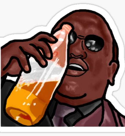 Morpheus Drinking a Forty in a Death Basket  Sticker