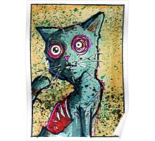Petey the Zombie Cat Poster