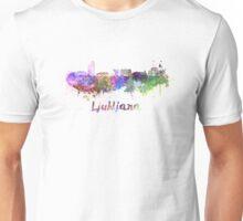 Ljubljana skyline in watercolor Unisex T-Shirt