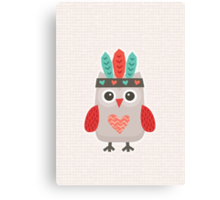 Hipster Owlet Cream Canvas Print