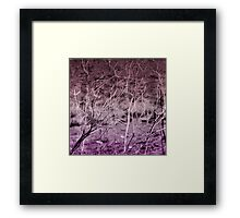 Where Are We Now? In Deep Purple Framed Print