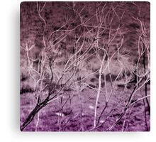 Where Are We Now? In Deep Purple Canvas Print