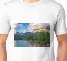 Bow River and Three Sisters Canmore Unisex T-Shirt