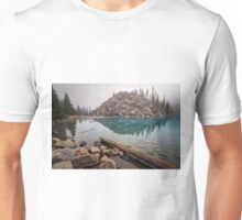 Foggy Morning Moraine Lake Unisex T-Shirt