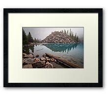 Foggy Morning Moraine Lake Framed Print