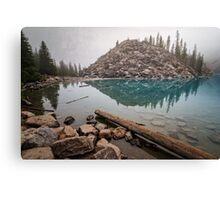 Foggy Morning Moraine Lake Canvas Print