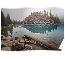Foggy Morning Moraine Lake Poster
