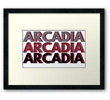Triple ARCADIA Framed Print