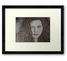 Iridescent Female Portrait Framed Print