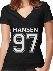 DINAH JANE HANSEN 97 Women's Fitted V-Neck T-Shirt