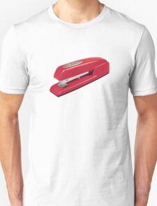 Swingline Red Stapler Pattern Unisex T-Shirt