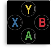 Xbox One Buttons - Minimalist Canvas Print