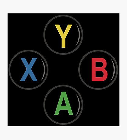 Xbox One Buttons - Minimalist Photographic Print