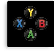 Xbox One Buttons Canvas Print