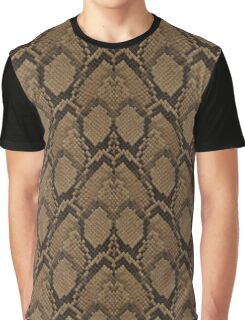 Bronze Brown and Black Python Snake Skin Reptile Scales Graphic T-Shirt
