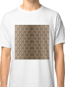 Bronze Brown and Black Python Snake Skin Reptile Scales Classic T-Shirt