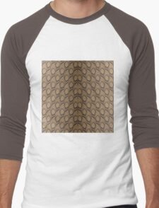 Bronze Brown and Black Python Snake Skin Reptile Scales Men's Baseball ¾ T-Shirt