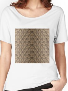 Bronze Brown and Black Python Snake Skin Reptile Scales Women's Relaxed Fit T-Shirt