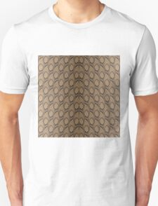 Bronze Brown and Black Python Snake Skin Reptile Scales Unisex T-Shirt