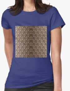 Bronze Brown and Black Python Snake Skin Reptile Scales Womens Fitted T-Shirt