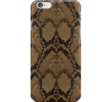 Bronze Brown and Black Python Snake Skin Reptile Scales iPhone Case/Skin