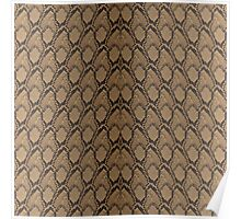 Bronze Brown and Black Python Snake Skin Reptile Scales Poster