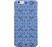 Blue Zebra (02) - modern zebra print iPhone Case/Skin