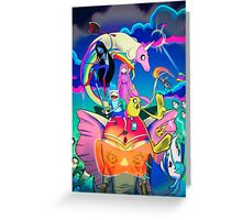Ancient Psychic Tandem War Elephant  · Adventure Time  Greeting Card
