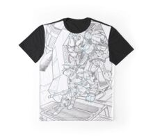 Drop Point [black and white] Graphic T-Shirt