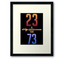 23>73 Framed Print