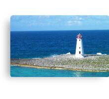 Lighthouse in Nassau Harbour Canvas Print