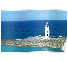 Lighthouse in Nassau Harbour Poster