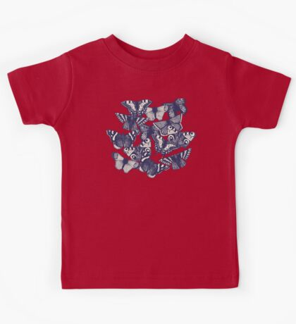 butterfly strawberry pink Kids Tee