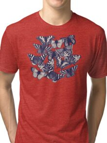 butterfly strawberry pink Tri-blend T-Shirt