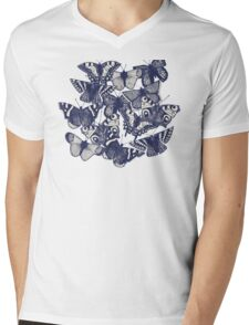 butterfly strawberry pink Mens V-Neck T-Shirt