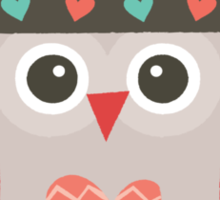 Hipster Owlet Mint Sticker