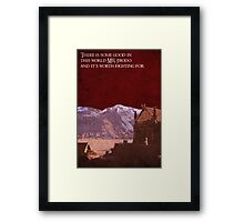 The Two Towers inspired design. Framed Print