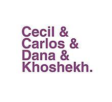 Cecil & Carlos & Dana & Khoshekh WTNV Slogan Helvetica Photographic Print