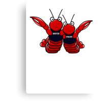 She's his lobster Canvas Print