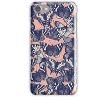 butterfly pale coral iPhone Case/Skin
