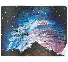 Mountain Starry Sky Poster