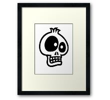 Crazy Skull Framed Print