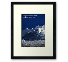 The Return of the King inspired design. Framed Print