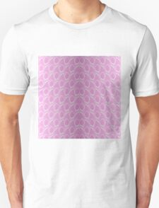 Pink and White Python Snake Skin Reptile Scales Unisex T-Shirt