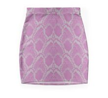 Pink and White Python Snake Skin Reptile Scales Mini Skirt