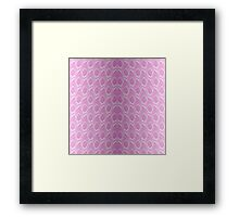Pink and White Python Snake Skin Reptile Scales Framed Print