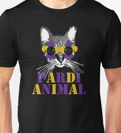 Purple and Gold Pardi Animal (Without the crown) Unisex T-Shirt