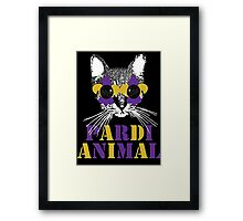 Purple and Gold Pardi Animal (Without the crown) Framed Print