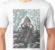 Man on Capitol Lifts Head, Snakes Emerge Unisex T-Shirt