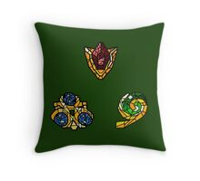Stained Glass Spiritual Stones Throw Pillow